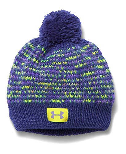 Under Armour Girls' Speckle Beanie, Europa Purple/X-Ray, One Size