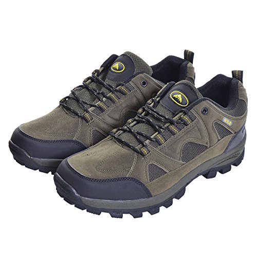 Slduv7 Hommes Automne Bottes De Randonnée Occasionnels En Plein Air Waterproot Bottes De Montagne Lace Up Plate-forme Treeking Chaussures Vert