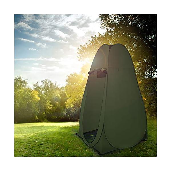 WolfWise Tenda ad Apertura Istantanea Pop-Up Campeggio Spiaggia Bagno Spogliatoio Doccia Riparo Privato all'Aperto 3 spesavip