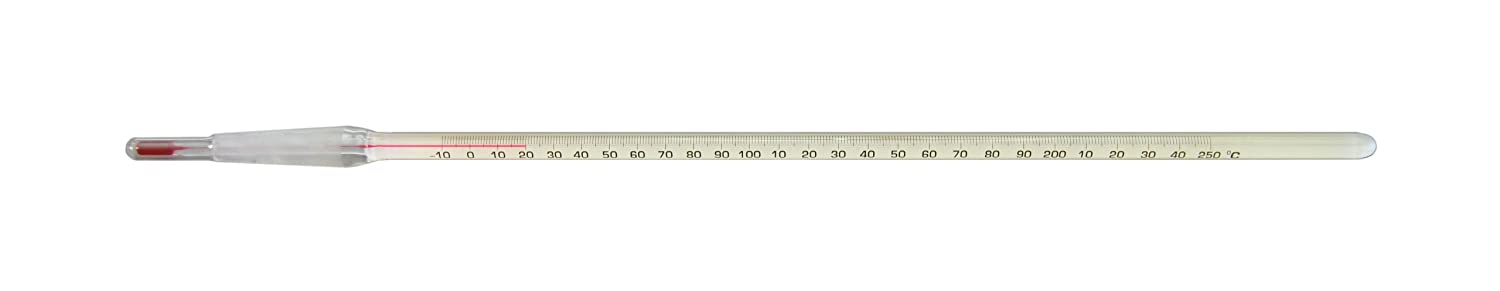 Thermco ACCST03110S Precision Red Spirit Filled 10/30 Standard Taper Joint Thermometer, -10° to 110°C Range, 1°C Division, 75mm Immersion, 325mm Length Thermco Products Inc.