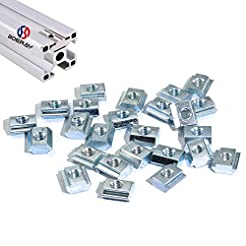 Boeray 50pcs M5 Slide in T Nut Tee Slidi...