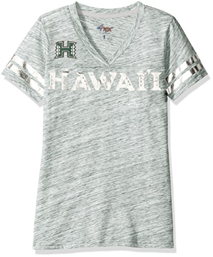 NCAA Hawaii Rainbow Warriors Women's Off Tackle Tee, Small/Medium, Green (Green Green Hawaii Warriors)
