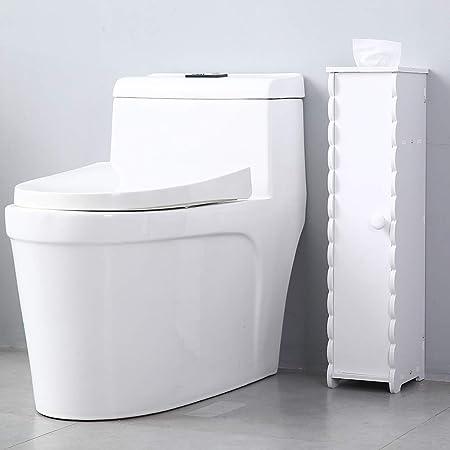 Toilet Bathroom Floor Corner Rolling Cabinet Paper Storage Organizer Shelf US