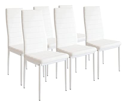 Albatros 2699 milano set di 6 sedie da pranzo bianco: amazon.it