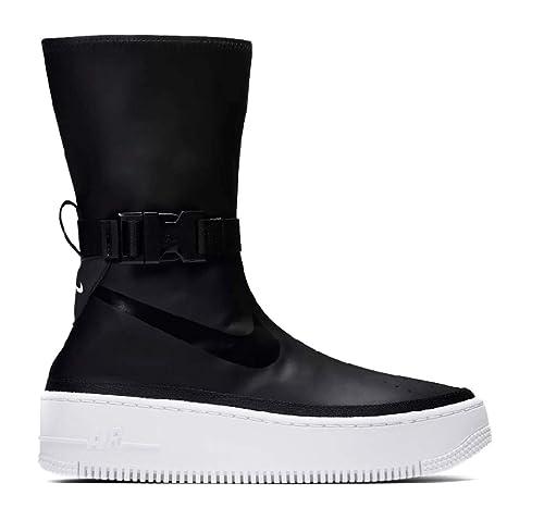 new product 7ca08 9e53c Nike Womens Air Force 1 Sage Hi AQ2771-001 Black White Platform  Amazon.it   Scarpe e borse