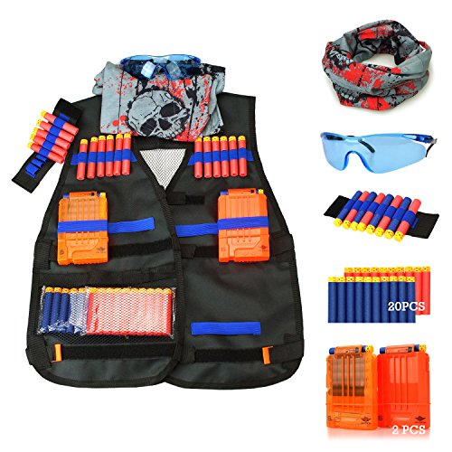 UWANTME Tactical Vest Kit for Nerf Guns N-Strike Elite Series -