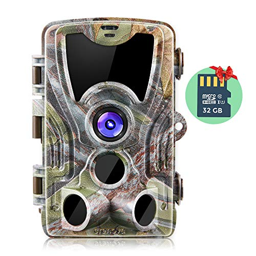 Crenova Trail Camera 20MP 1080P HD with 32GB Micro Card Available with 940nm IR...