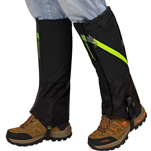 PAMASE Extra Large Waterproof Hiking Gaiters for Men and Women, High Leg Gaiters for Snow Hunting -...
