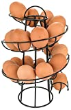 Southern Homewares Egg Skelter Deluxe Modern Spiraling Dispenser Rack, Black
