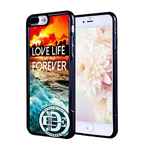 (iPhone 7 Plus) EGOCENTRIC DESIGN & CO. Love Life, Now, and Forever on Colorful Beach Sunset TPU Rubber Silicone Phone - Charlotte Port Sun Charlotte