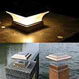 Jeeke 24LED Solar Powered Light - Motion Sensor Outdoor Light Yard Wall Fence Pathway Lamp - Garden Waterproof Light (Warm Yellow)