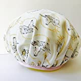Waterproof, Reusable, Pretty Unicorns Shower Cap by Showerista, Made in USA