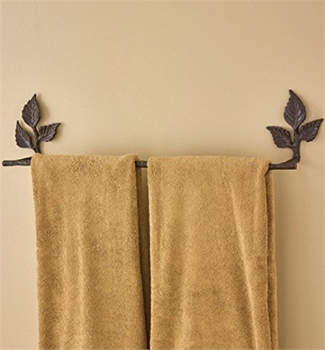 Park Designs Birch Wood 6 Inches Height x 29 Inches Width x 4 Inches Depth Aluminum Towel Bar Home Decor