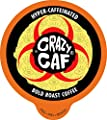 Crazy Cups, Crazy Caf Extra Caffeineted Coffee, Single Serve Cups for Keurig K Cup Brewer, 22 Count