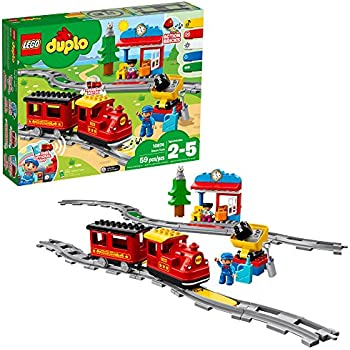 da6026dcb8a LEGO DUPLO Steam Train 10874 Remote-Control Building Blocks Set Helps  Toddlers Learn, Great Educational Birthday Gift (59 Pieces)