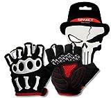 SPAKCT Short Finger Half Finger Cycling Gloves-Skeleton (XL)