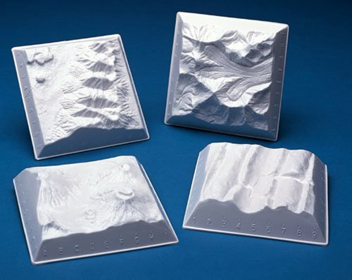 Hubbard Scientific 515 Geology Landform Models-Miniature 10 Set of 4