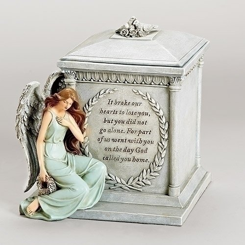 "Roman 48476 8.5"" Inch Height Memorial Urn Forever with the Angels"