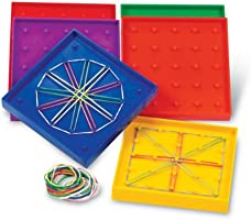Learning Resources 5Inch Doublesided Assorted Geoboard, Set Of 6