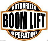 AUTHORIZED BOOM LIFT OPERATOR (LOT OF 3) STICKER