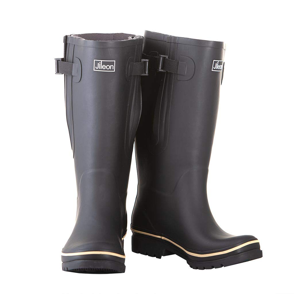 Jileon Extra Wide Calf Rubber Rain Boots for Women-Widest Fit Boots in The US-up to 23 inch Calves-Wide in The Foot and Ankle