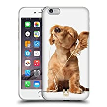 Head Case Designs Young Puppy Listening To Music Funny Animals Soft Gel Case for Apple iPhone 5 / 5s / SE