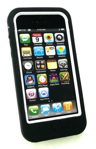 Emartbuy® Apple Iphone 5 5s Impact Dual Layer Protection Case / Skin / Schutzhülle Schwarz