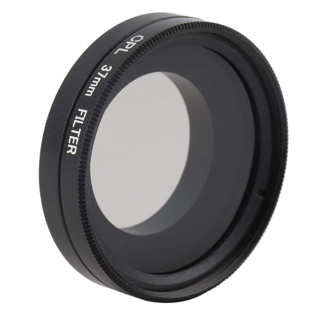 Lente polarizada Negro de Forma Circular del Filtro de Vidrio de aleació n de Aluminio de 37 mm polarizado para Gopro HD Hero 4 Laurelmartina