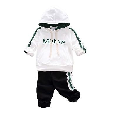 07b7738dbb61b Robemon Vêtement Bébé Enfant Garçon Fille Lettre Capuche Swear-Shirt Tops +  Pantalon Vêtements Ensemble Bébé Cadeaux Tenues 0.5-3Ans  Amazon.fr   Vêtements ...