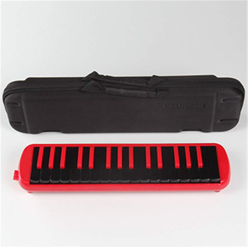 Melodica Musical Instrument Portable Piano Style Kids Melodica 32 Keys Musical Instrument Gift Toys For Music Lovers Beginners With Mouthpieces Tube Sets Carrying Bag Black Red Blue for Music Lovers B by Shirleyle-MU (Image #4)
