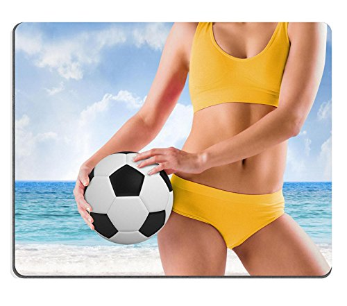 Liili Mouse Pad Natural Rubber Mousepads Composite image of fit (Composite Rubber Football)
