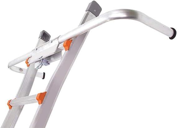 LILUN6 Estabilizador de Escalera: Parachoques de Soporte de Escalera Recto, aleación de Aluminio. Apto para Todo Tipo de escaleras Rectas. 14 * 4 * 33 Pulgadas.: Amazon.es: Hogar