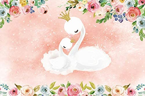 Amazon Com Baocicco 6x4ft Baby Shower Backdrop Cartoon Elegant White Swans Mother And Daughter Golden Crown Photography Background Princess Birthday Party Supplies Baby Girl Pregnant Women Portrait Props Camera Photo
