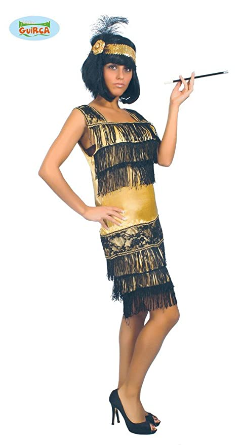 Charleston Taglia M Carnevalefesta Costume Vestito Donna H9DIYEW2