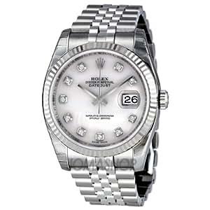 Rolex Mujer 36 mm Pulsera & caja acero inoxidable Saphire automático reloj rosa reloj m116234 –