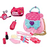 ZHOUWHJJ My First Purse Pretend Play Make up Bag, Pretty Role Play Toy for Girls, Educational Pretend Toy for Preschoolers and Toddler Purse