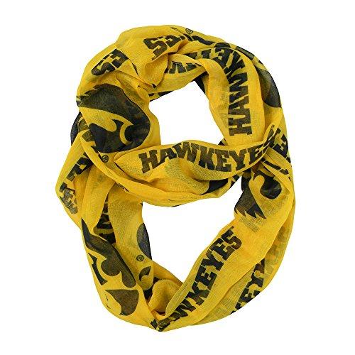 Iowa Hawkeyes Jewelry (NCAA Iowa Hawkeyes Sheer Infinity Scarf, One Size,)