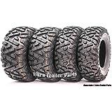 Set of 4 New Radial ATV/UTV Tires WANDA 25x8R12 Front & 25x10R12 Rear /6PR P350 - 10177/10178 …