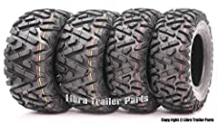 "Tire Specifications                       TireSize: 25x8-12         Brand: WANDA         Pattern: P350         Ply Rated: 6         Tread Depth: 0.79""         Rim Width: 6.5""         Max Load: 340lbs@7psi         Load Speed In..."