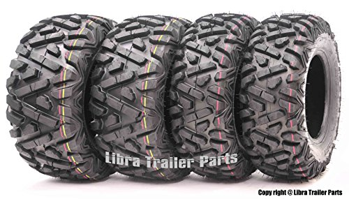 Set of 4 New WANDA ATV/UTV Tires 25x8-12 Front & 25x10-12 Rear /6PR P350-10163/10165 ...