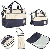 حقيبة غيار للاطفال متعددة الوظائف 5 في 1 من اخرى - Gh8687، ازرق داكن
