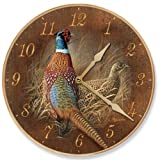 Late Season Solitude – Pheasants Round Clock by Rosemary Millette For Sale