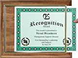 Walnut Finish Certificate Plaque with Gold Slide-in Frame (2)