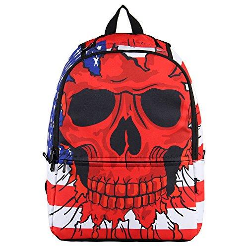 hynes-eagle-printed-kids-school-backpack-red-skull