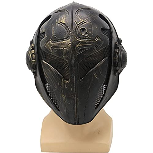 Brand New Black Wire Mesh Full Face Protection Paintball Templar Mask Halloween PROP Cosplay