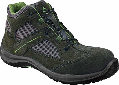 Delta plus calzado - Juego bota serraje poliester poliuretano gris/verde talla 36(1 par)