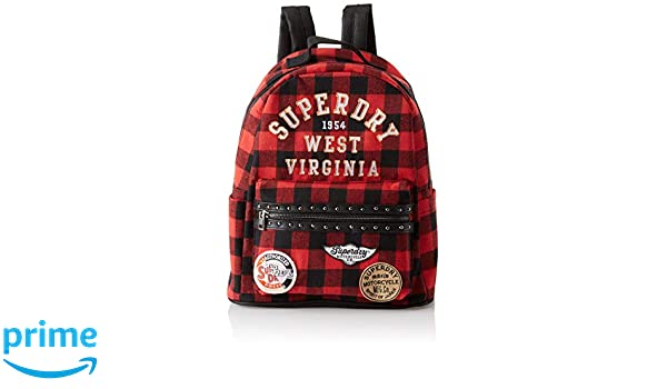 Superdry - Midi, Mochilas Mujer, Multicolor (Red/Black Check), 36x37x14 cm (W x H L): Amazon.es: Zapatos y complementos