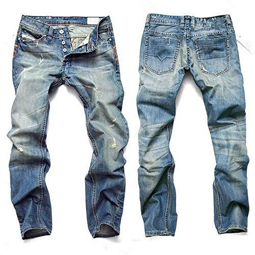 Classiche Con A Jeans Strappato Pantaloni Uomo Colour Vintage Jeans Strappata Skinny Ragazzi Strappati Gamba Da Foro vzwUzpxt