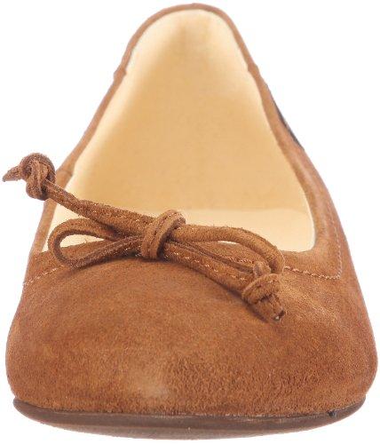 Jonnys Jerita J-17093, Damen Ballerinas aus Velourleder Gold (whisky)