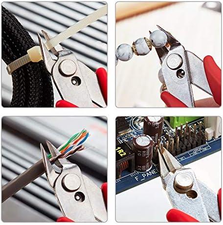 DAUERHAFT Wire Cutter,170 High Carbon Steel Jaw Anti-Slip Rubber Handle Lightweight Spring Design Blue Diagonal Pliers,for 3D Printer